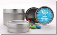 She's Ready To Pop Blue - Custom Baby Shower Favor Tins