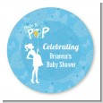 She's Ready To Pop Blue - Personalized Baby Shower Table Confetti thumbnail