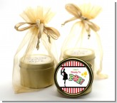 She's Ready To Pop Christmas Edition - Baby Shower Gold Tin Candle Favors