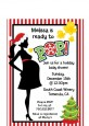 She's Ready To Pop Christmas Edition - Baby Shower Petite Invitations thumbnail