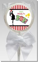 She's Ready To Pop Christmas Edition - Personalized Baby Shower Lollipop Favors