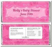 She's Ready To Pop Pink - Personalized Baby Shower Candy Bar Wrappers