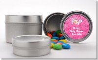 She's Ready To Pop Pink - Custom Baby Shower Favor Tins