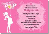 She's Ready To Pop Pink - Baby Shower Invitations