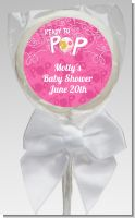 She's Ready To Pop Pink - Personalized Baby Shower Lollipop Favors