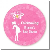 She's Ready To Pop Pink - Personalized Baby Shower Table Confetti