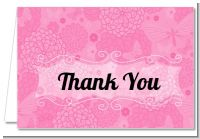 She's Ready To Pop Pink - Baby Shower Thank You Cards