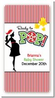 She's Ready To Pop Christmas Edition - Custom Rectangle Baby Shower Sticker/Labels