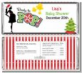 She's Ready To Pop Christmas Edition - Personalized Baby Shower Candy Bar Wrappers thumbnail