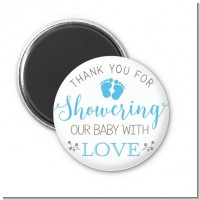 Showering Our Baby Boy - Personalized Baby Shower Magnet Favors
