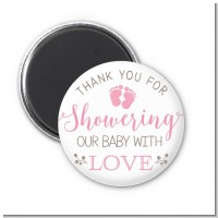 Showering Our Baby Girl - Personalized Baby Shower Magnet Favors