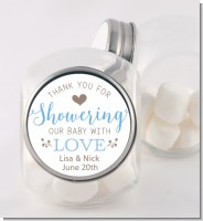 Showering With Love - Personalized Baby Shower Candy Jar