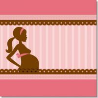 Mommy Silhouette Girl Baby Shower Theme