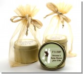 Silhouette Couple | It's a Baby Neutral - Baby Shower Gold Tin Candle Favors