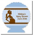 Mommy Silhouette It's a Boy - Personalized Baby Shower Centerpiece Stand thumbnail