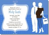 Silhouette Couple | It's a Boy - Baby Shower Invitations
