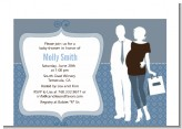 Silhouette Couple | It's a Boy - Baby Shower Petite Invitations