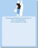 Silhouette Couple | It's a Boy - Baby Shower Notes of Advice