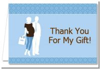 Silhouette Couple | It's a Boy - Baby Shower Thank You Cards