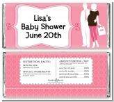 Silhouette Couple | It's a Girl - Personalized Baby Shower Candy Bar Wrappers