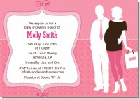Silhouette Couple | It's a Girl - Baby Shower Invitations