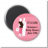 Silhouette Couple | It's a Girl - Personalized Baby Shower Magnet Favors