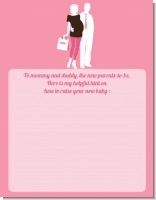 Silhouette Couple | It's a Girl - Baby Shower Notes of Advice
