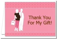 Silhouette Couple | It's a Girl - Baby Shower Thank You Cards