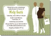 Silhouette Couple African American It's a Baby Neutral - Baby Shower Invitations