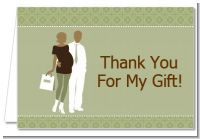 Silhouette Couple African American It's a Baby Neutral - Baby Shower Thank You Cards