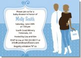 Silhouette Couple African American It's a Boy - Baby Shower Invitations