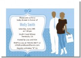 Silhouette Couple African American It's a Boy - Baby Shower Petite Invitations