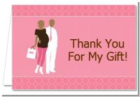 Silhouette Couple African American It's a Girl - Baby Shower Thank You Cards