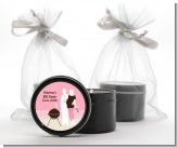 Silhouette Couple BBQ Girl - Baby Shower Black Candle Tin Favors