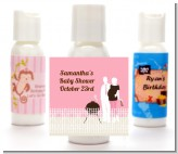 Silhouette Couple BBQ Girl - Personalized Baby Shower Lotion Favors