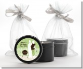 Silhouette Couple BBQ Neutral - Baby Shower Black Candle Tin Favors