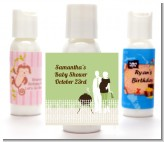 Silhouette Couple BBQ Neutral - Personalized Baby Shower Lotion Favors