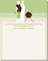 Silhouette Couple BBQ Neutral - Baby Shower Notes of Advice