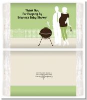 Silhouette Couple BBQ Neutral - Personalized Popcorn Wrapper Baby Shower Favors