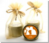 Silhouette Couple - Bridal Shower Gold Tin Candle Favors