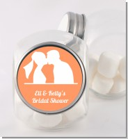 Silhouette Couple - Personalized Bridal Shower Candy Jar