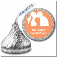 Silhouette Couple - Hershey Kiss Bridal Shower Sticker Labels
