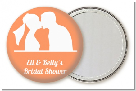 Silhouette Couple - Personalized Bridal Shower Pocket Mirror Favors