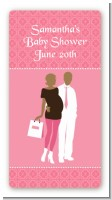 Silhouette Couple African American It's a Girl - Custom Rectangle Baby Shower Sticker/Labels