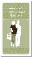 Silhouette Couple | It's a Baby Neutral - Custom Rectangle Baby Shower Sticker/Labels