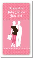 Silhouette Couple | It's a Girl - Custom Rectangle Baby Shower Sticker/Labels
