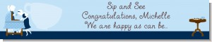 Sip and See It's a Boy - Personalized Baby Shower Banners