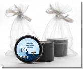 Sip and See It's a Boy - Baby Shower Black Candle Tin Favors