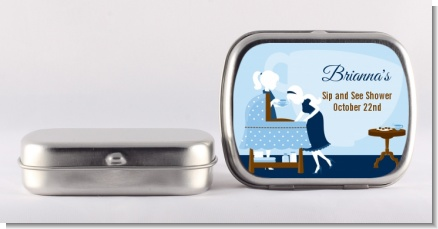 Sip and See It's a Boy - Personalized Baby Shower Mint Tins