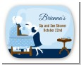Sip and See It's a Boy - Personalized Baby Shower Rounded Corner Stickers thumbnail